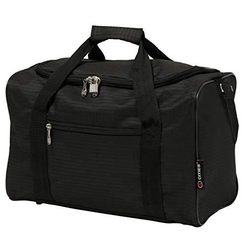 5 Cities 40x20x25 Tasche Flugtasche 2020 Ryanair Maximale Größe der Kabinenreisetasche - Nehmen Sie den Max an Bord!, Schwarz