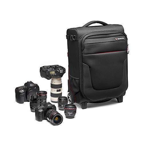 Manfrotto MB PL-RL-A50 Reloader Air 50 Professionelle Foto-Rolltasche für DSLR, Reflex, CSC Premium Kameras, Trolly für bis zu 2 Kameras und Objektive, mit einer 15' Tasche für PC und Dokumententasche