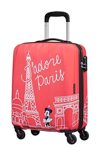 American Tourister Disney Legends - Spinner S - Kindergepäck, 55 cm, 36 L, rosa (Take Me Away Minnie Paris)