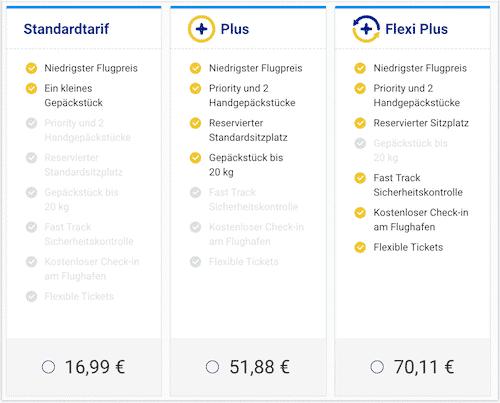 Ryanair Tarif