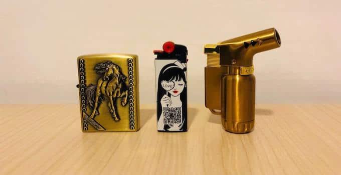 Feuerzeug, Zippo und Jet-Flame
