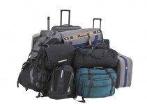 Verschiedene Arten von Gepäck. Handgepäck, Aufgabegepäck, etc