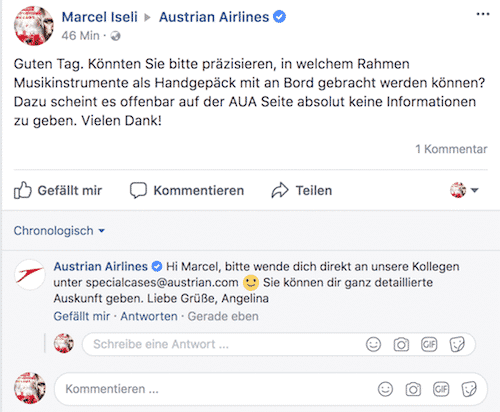 austrian airlines hotline
