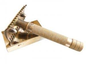 Das Bild zeigt einen klassischen Rasierhobel für die Nassrasur