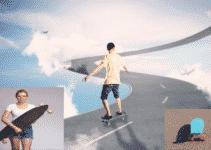 Bild zeigt eine Collage mit Longboard, Skateboard und Pennyboard