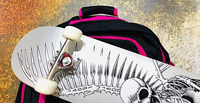 Skateboard im Handgepäck