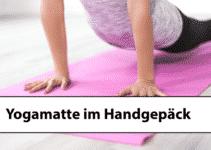Yogamatte als Handgepäck