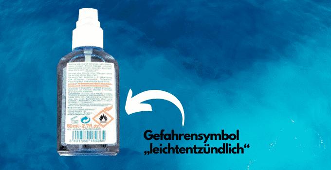 Desinfektionsmittel Gefahrensymbol leichtentzündlich