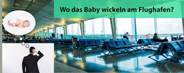 Baby wickeln am Flughafen