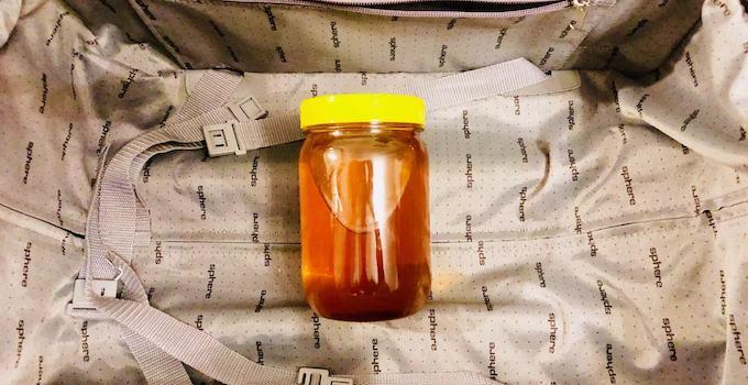 Honig im Handgepäck transportieren