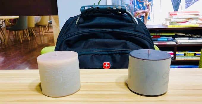 Kerzen im Handgepäck