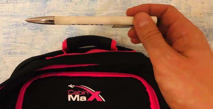 Kugelschreiber im Handgepäck