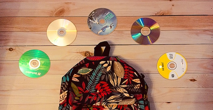 CDs im Handgepäck