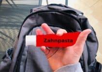 Zahnpasta im Handgepäck