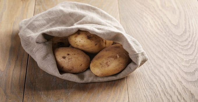 Kartoffeln im Handgepäck