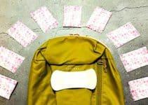 Binden im Handgepäck