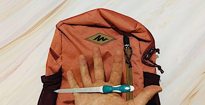 Nagelfeile im Handgepäck