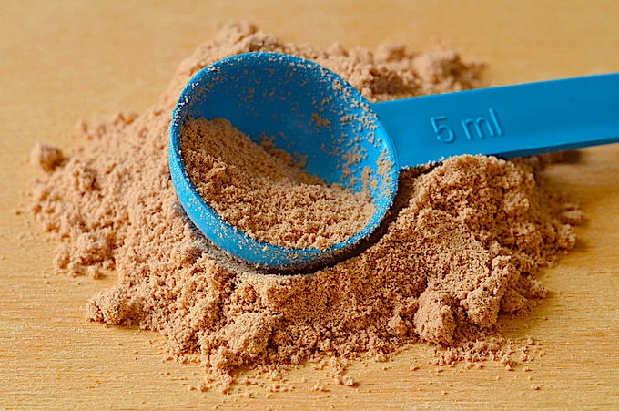 Proteinpulver im Handgepäck