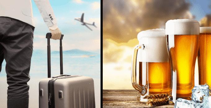 Bier im Aufgabegepäck