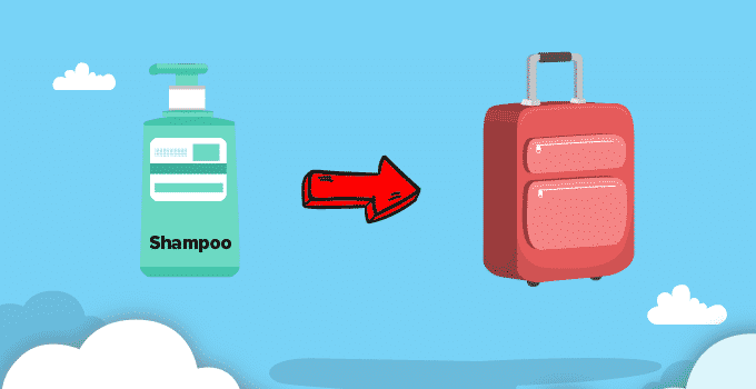Shampoo im Koffer