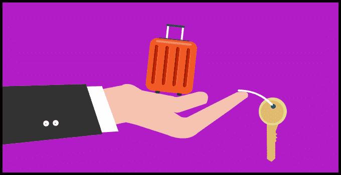 Schlüssel im Handgepäck