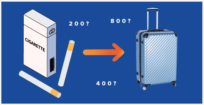 Zigaretten im Koffer