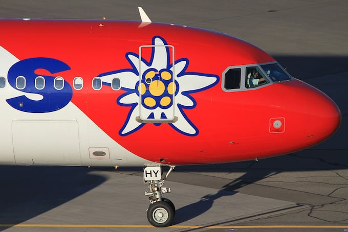 Vorabend Check-in Edelweiss Air