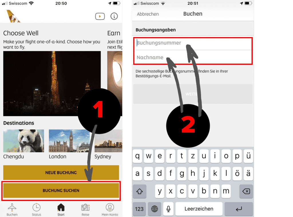 Etihad App Online Check-in