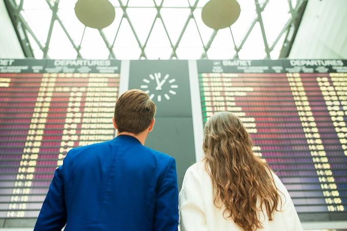 Flugnummer auf Anzeigetafel