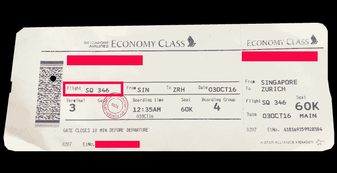 Flugnummer_auf_Flugticket_Singapore_Airlines