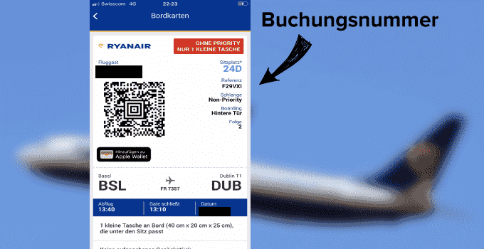 Ryanair Buchungsnummer Update Two